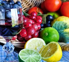 Fruit and Wine by Cynthia Harris