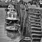 Boats at Lyme Regis by Geoff Carpenter