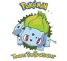 Team Bulbasaur - Pokemon X Y Photographic Print