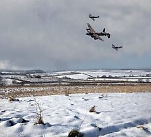 Battle of Britain Snow Scene by J Biggadike