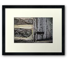 From These Primitive Beginnings A Mighty City Grew Framed Print