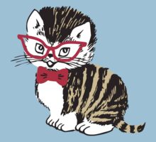 Cute kitten cat bow tie glasses by BigMRanch