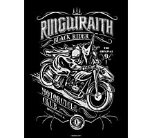 Black Rider Motorcycle Club Photographic Print