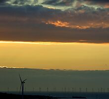 wind turbines from Everton View by Debra Kurs