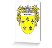 Alvarado Coat of Arms/Family Crest Greeting Card