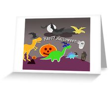Happy Halloween Dinosaurs Greeting Card