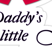 Daddy's little Time Lady! Sticker