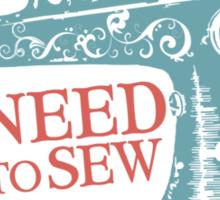Funny seamstress vintage sewing machine Sticker