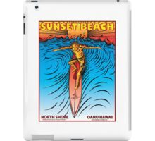 SUNSET BEACH OAHU HAWAII iPad Case/Skin