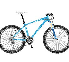 Typographical Anatomy of a Mountain Bike by jarodface