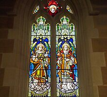 St Gabriel & St Raphael,  Cathedral Church of St David by Margaret  Hyde