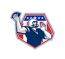 American Football Quarterback Shield by patrimonio