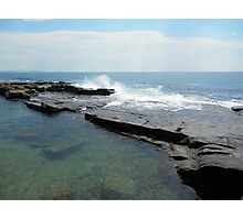 Clam Surf Rock Pool Photographic Print