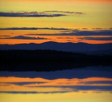 highland sunset by dale54
