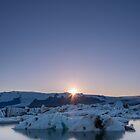 Jökulsárlón Sunset by George Wheelhouse