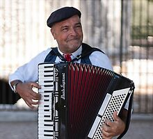 Accordion player in Siracusa  by Pazzorae