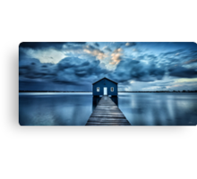 A Little Blue Boatshed Canvas Print