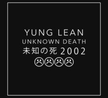 YUNG LEAN UNKNOWN DEATH 2002 (BLACK) by pbwlf