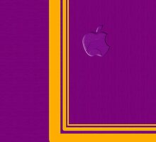 Yellow Curve Line ~Purple+Apple Logo~ by V-Art