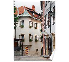 Historic Street in Skofja Loka 1 Poster