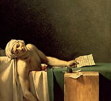 The Death of Marat, 1793 (oil on canvas) by Bridgeman Art Library