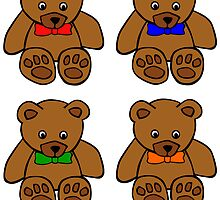 Teddy Bear Bowtie Pop Art by kwg2200