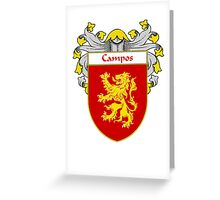 Campos Coat of Arms/Family Crest Greeting Card