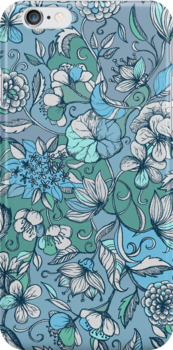 Her Garden in Blue by micklyn