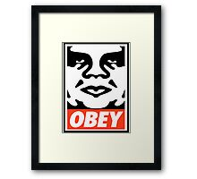 OBEY GIANT - André the Giant  Framed Print