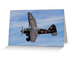 Lysander IIIa RCAF2355 V9367/MA-B G-AZWT Greeting Card