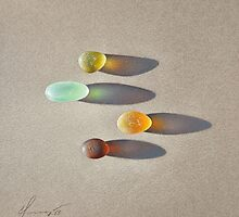Sea glass - the race by Elena Kolotusha