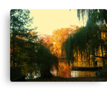 On Golden Pond, Sleepy Hollow New York, USA Canvas Print