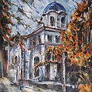 Church Yard - Autumn Afternoon by Stefano Popovski