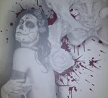 untitled #2 of 2 canvas dia de los muertos piece by asvone