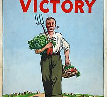 Classic Vintage Posters Food Production Dig for Victory  by vintageposters