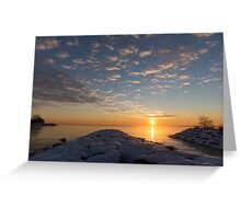 Greeting the Winter Sun on the Lake Greeting Card