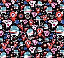 texture fun loving robots by Tanor