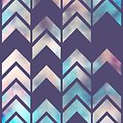 Chevron Dream 2 (Plum) by Beth Thompson