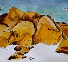 The Rocky Shore by Evelyn Bach