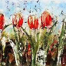 Tulips in Red by Stephie Butler