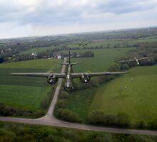 RAF Bostons on low-level strike by Gary Eason + Flight Artworks