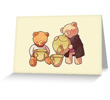 two two one teddybear Greeting Card