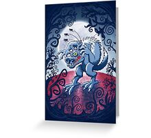Werewolf Scratching Spooky Fleas Greeting Card