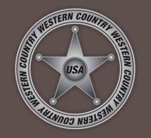 Western Country music Sheriff Sign decoration Clothing & Stickers by goodmusic