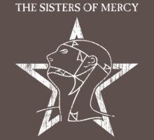 The Sisters Of Mercy - The Worlds End - T-Shirt (Distressed) by James Ferguson - Darkinc1