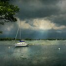 Boat - Canandaigua, NY - Tranquility before the storm  by Mike  Savad