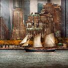 Boat - Governors Island, NY - Lower Manhattan by Mike  Savad
