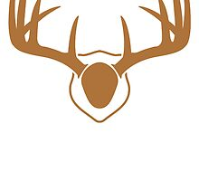 Brown Deer Antlers Mount by kwg2200