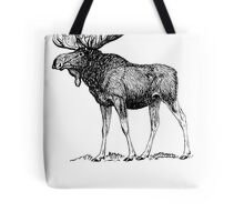 Moose Sketch Tote Bag
