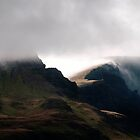 Cloudfall - cloud passes over the Trotternish Ridge on Skye by Richard Flint